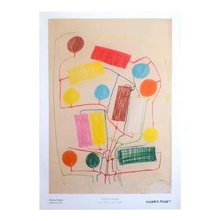 "Atsuko Tanaka Abstract Mid Century Modernism Museum Exhibition Poster Print "" Untitled No.1 "" 1956 For Sale"