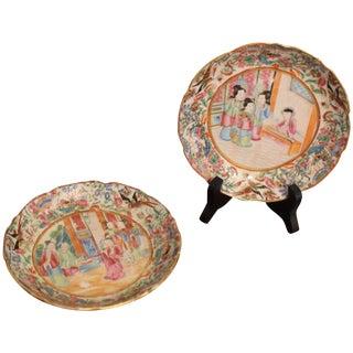 Rose Mandarin Plates - a Pair For Sale