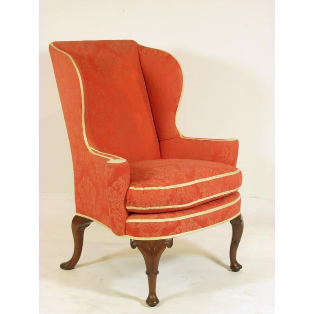 Traditional Late 19th Century George II Style Wing-Back Chairs - a Pair For Sale - Image 3 of 12