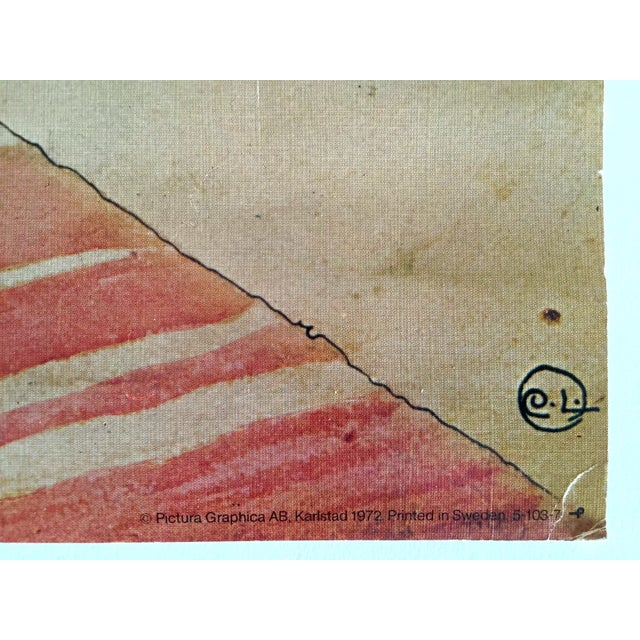 "Carl Larsson Vintage 1972 Original Swedish Lithograph Print Poster "" Koket the Kitchen "" 1898 For Sale - Image 10 of 12"