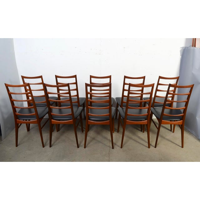 "1960s Vintage Niels Koefoed for Koefoed Hornslet Teak ""Lis"" Dining Chairs- Set of 10 For Sale In Washington DC - Image 6 of 8"