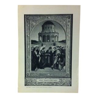 """Circa 1930 """"Quadro Nella Pinacoteca Di Brera"""" Print of Milano Italy For Sale"""