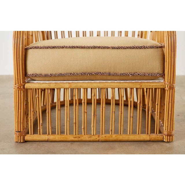 Set of Eight Michael Taylor Organic Modern Bamboo Lounge Chairs For Sale In San Francisco - Image 6 of 13