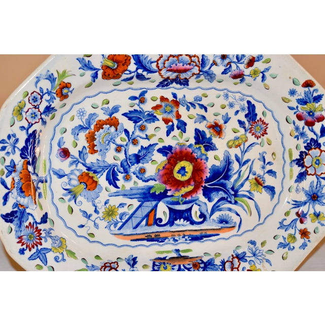 19th Century 19th C Dresden Opaque China Platter For Sale - Image 5 of 6