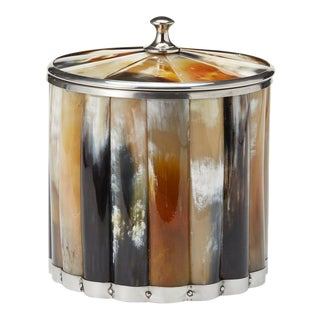 Naturally Shed Horn Ice Bucket With Lid and Stainless Steel Interior For Sale