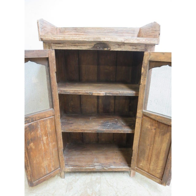 1900 - 1909 Antique Primitive China Cabinet Cupboard For Sale - Image 5 of 7