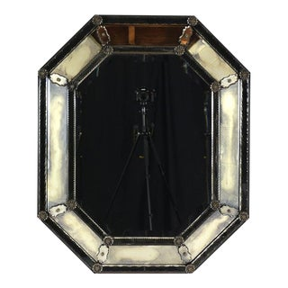 Vintage Venetian-style Octagonal Wall Mirror
