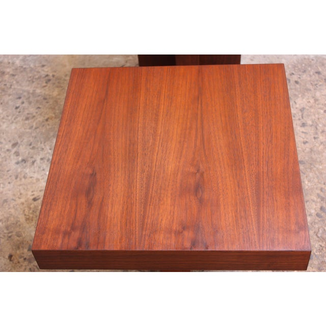 Pair of Milo Baughman 'Cruciform' End Tables For Sale - Image 10 of 13