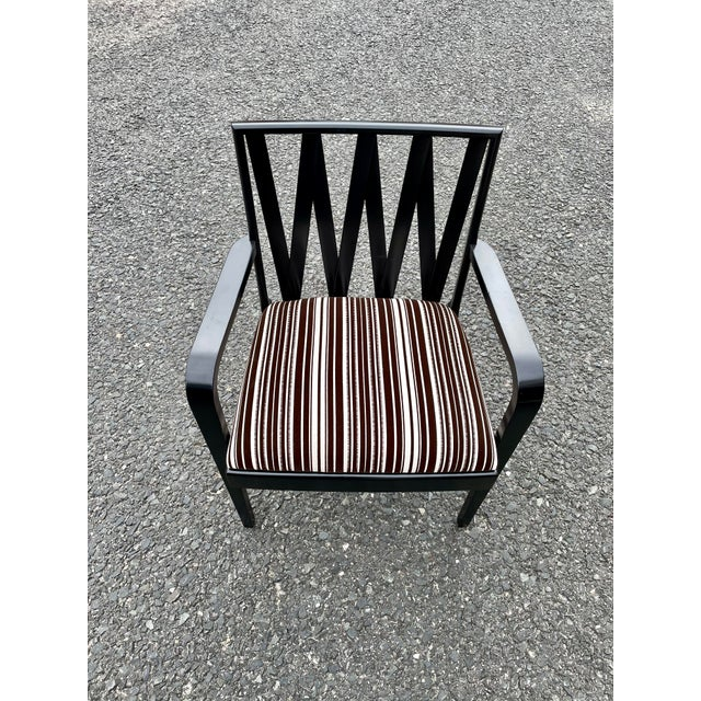 Paul Frankl Paul Frankl for Johnson Furniture Zig Zag Armchair 1950s For Sale - Image 4 of 13