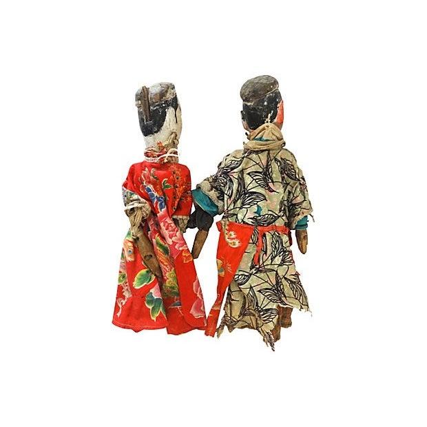 Folk Art Theater Opera Doll Puppets - A Pair - Image 6 of 6