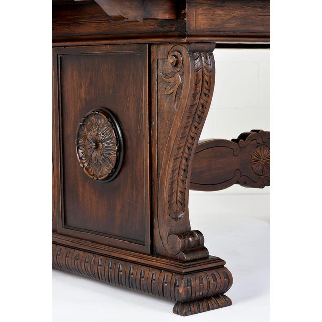 Antique Italian Baroque-style Desk or Library Table - Image 2 of 8