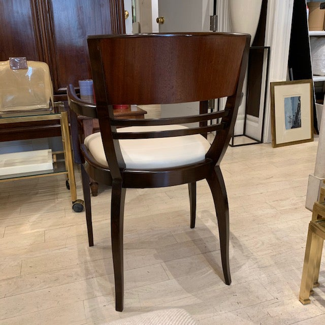 1950s French Rosewood Curved Back Arm Chairs - a Pair For Sale - Image 5 of 7