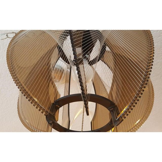 Vintage 60's Lucite String Swag Light For Sale - Image 4 of 12