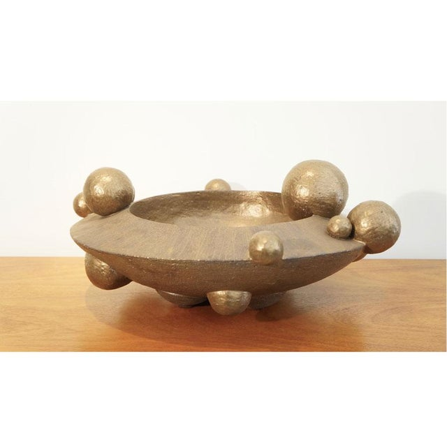Abstract Expressionism Contemporary Bronze Orb Vessel For Sale - Image 3 of 8