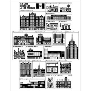 Demolished Buildings of Los Angeles Poster For Sale