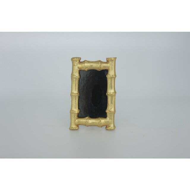 Vintage Gold Gilt Faux Bamboo Photo Frame - Image 5 of 5