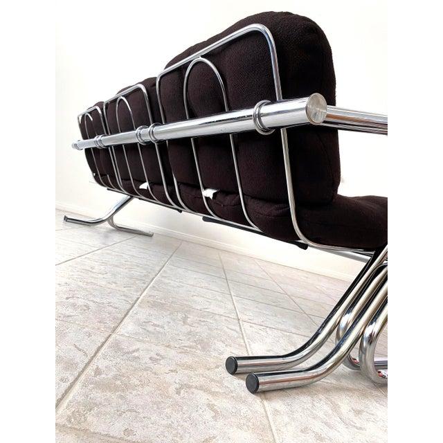 Mid Century Modern Jerry Johnson Chrome Sofa For Sale - Image 9 of 12