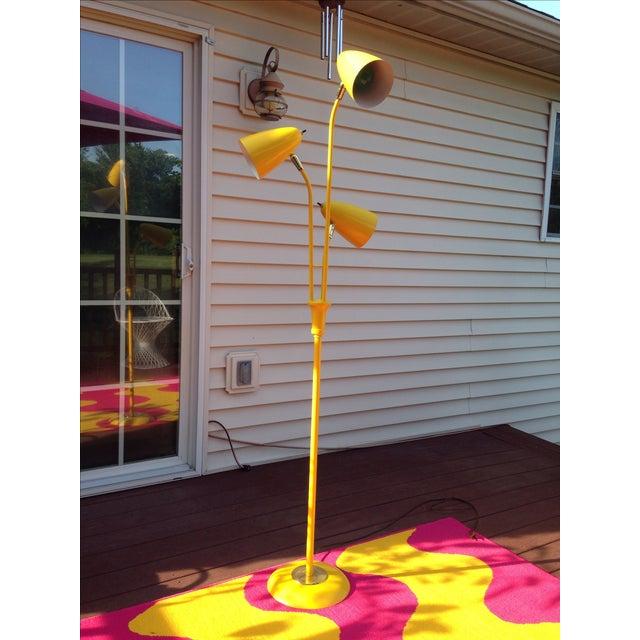 Yellow Mid Century Modern Bullet Floor Lamp - Image 3 of 11