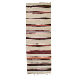 Banded Kilim Wide Runner For Sale