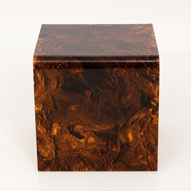Faux Tortoise Lucite Tables For Sale In New York - Image 6 of 13