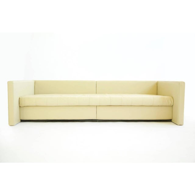 Knoll 1980s Joe d'Urso For Knoll Linear Sofa in Leather For Sale - Image 4 of 11