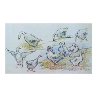 1959 Lithograph of Geese by Alfred Sisley For Sale