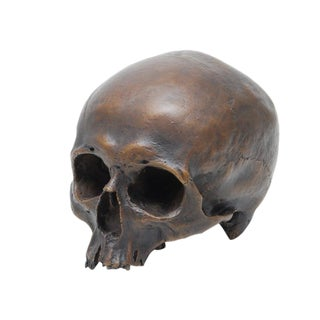 Solid Bronze Human Skull For Sale