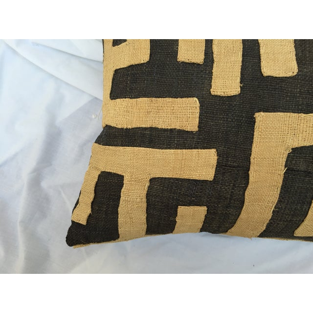 African Kuba Maze Pillows - Pair For Sale - Image 4 of 6