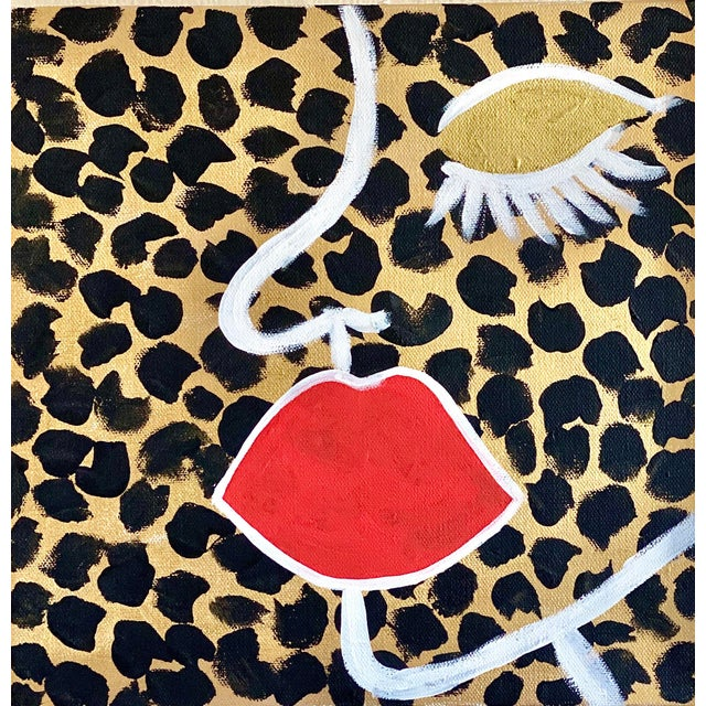 Abstract Abstract Face on Cheetah Print For Sale - Image 3 of 3