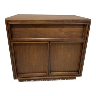 Mid Century Modern Night Stand Designed by John Keal for Brown Saltman For Sale