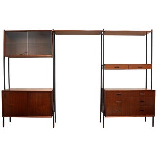 Danish Teak Wall System Attributed to Arne Vodder For Sale
