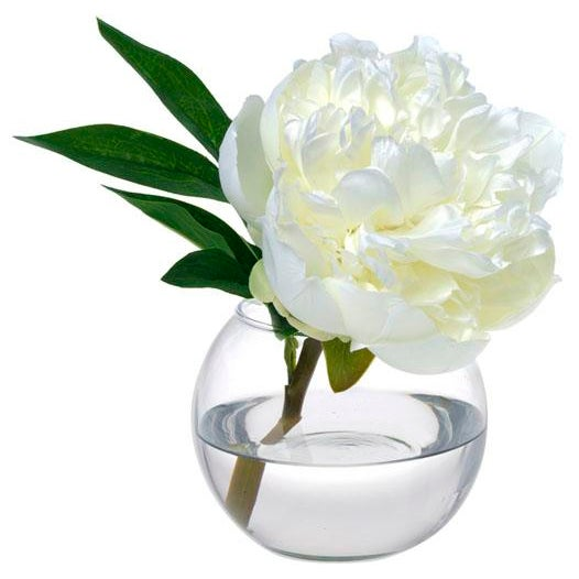 English Diane James Faux White Peony Blossom For Sale - Image 3 of 3