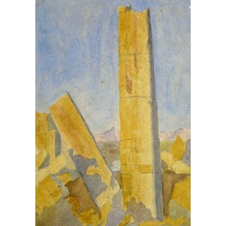 Watercolor Antiquities Ruins For Sale