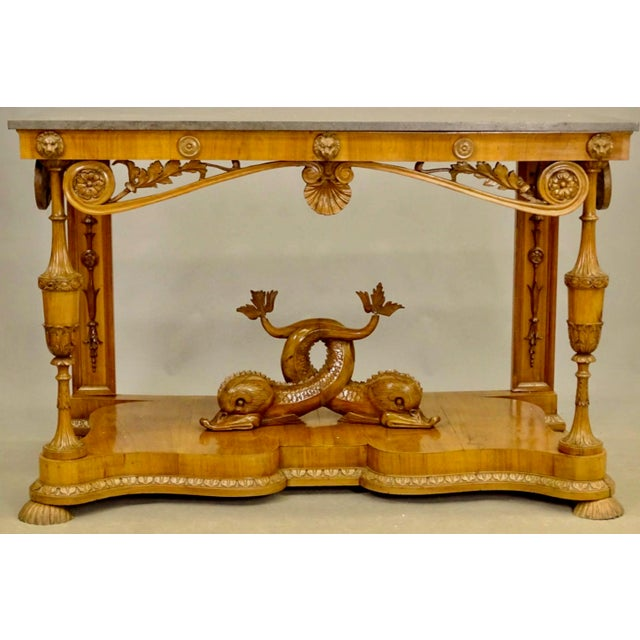 Ecru 19th Century Biedermeier Fruitwood Console For Sale - Image 8 of 8