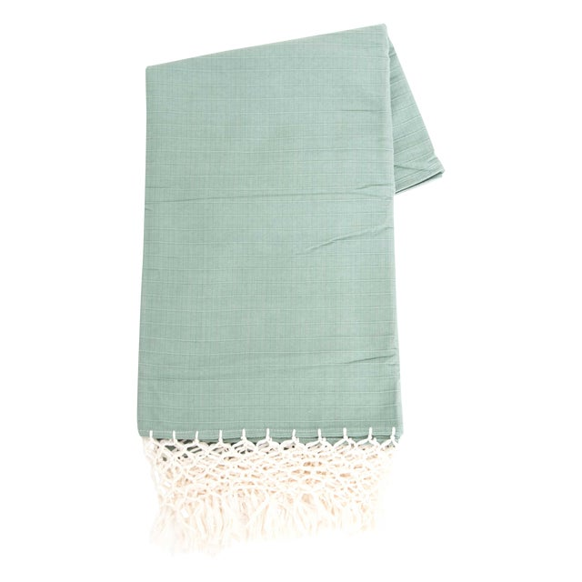 Sage Green Mexican Throw - Image 1 of 5