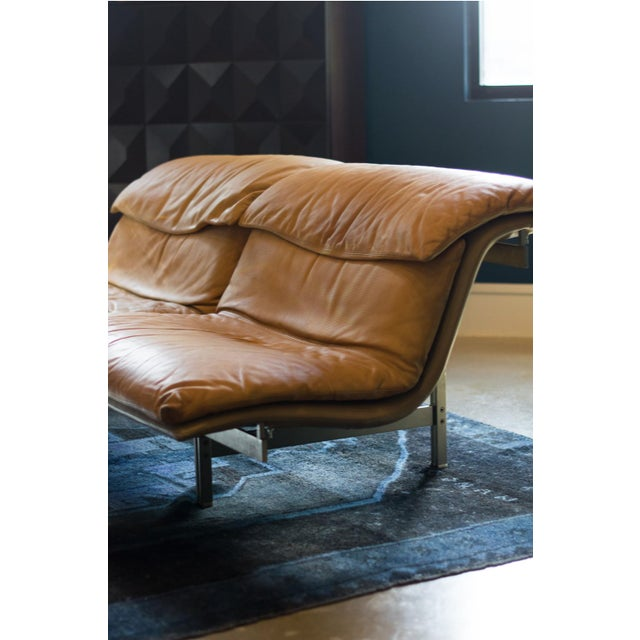 Contemporary Giovanni Offredi 'Wave' Leather Sofa by Saporiti, Italy For Sale - Image 3 of 13