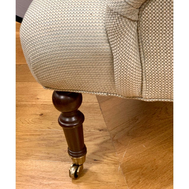 Beige Ralph Lauren Tufted Upholstered Chairs, a Pair For Sale - Image 8 of 13