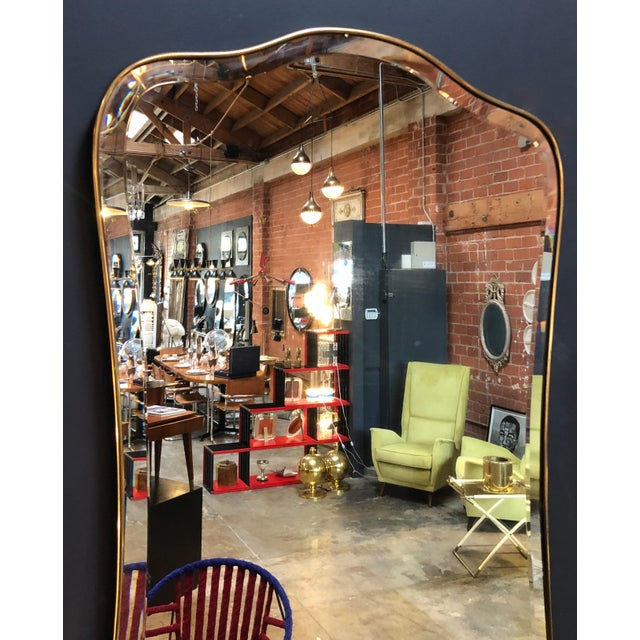 Giant Midcentury Italian Molded Wall Mirror, 1950s For Sale - Image 4 of 8