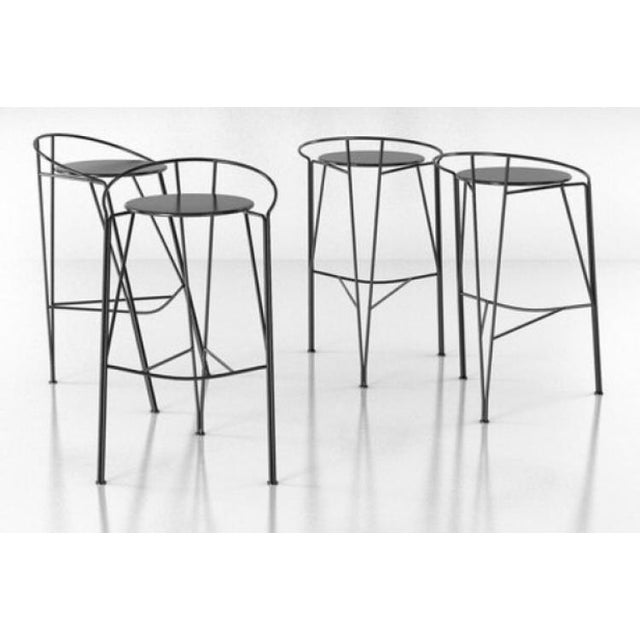 Pascal Morgue French Barstools - Set of 4 - Image 7 of 10