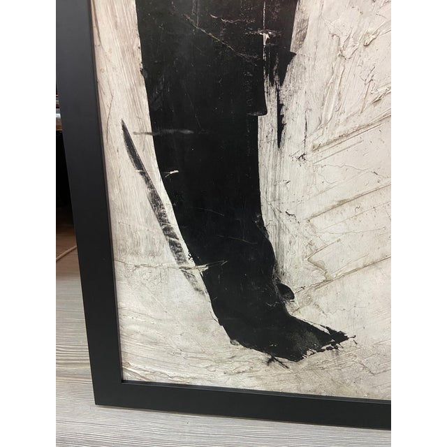 1960s Abstract Black and White Painting by Graham Harmon For Sale - Image 12 of 13
