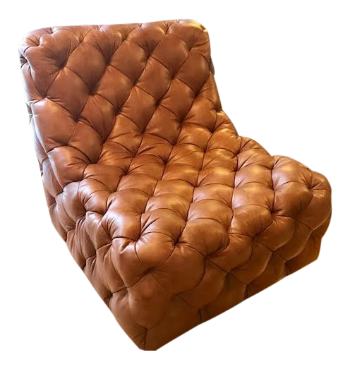 Bernhardt Tufted Leather Rigby Chair