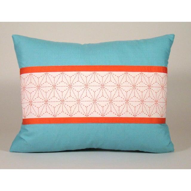 Japanese Sashiko Obi Pillow Cover For Sale - Image 9 of 9