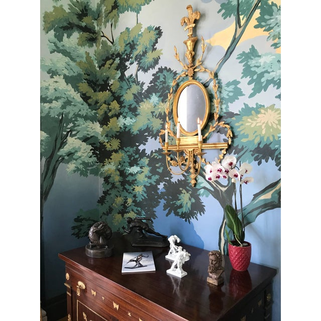 Neoclassical Pair of Adam Style Wall Sconces For Sale - Image 3 of 6