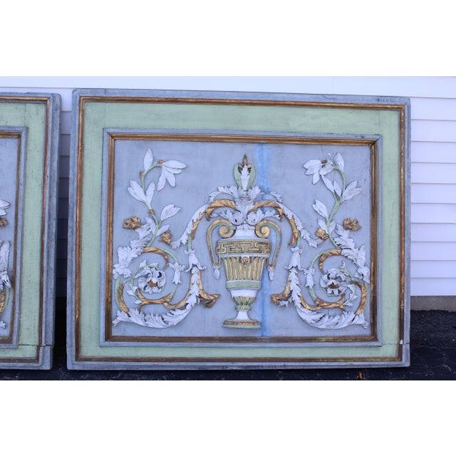 Late 18th Century Swedish Neoclassic Gustavian Wall Panels- A Pair For Sale In New York - Image 6 of 12