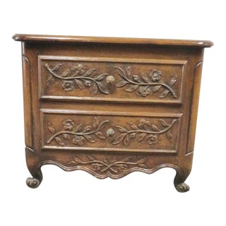 French Style Walnut Nightstand For Sale