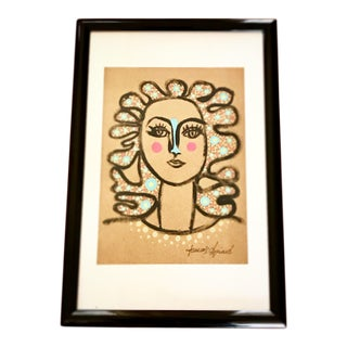 2010's Contemporary Artisan Portrait Painting, in the Style of Henri Matisse For Sale