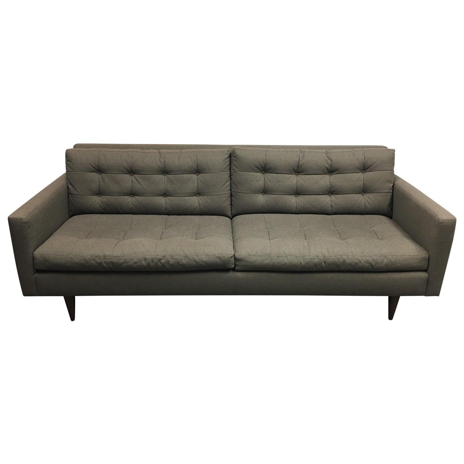 Crate barrel petrie apartment sofa chairish
