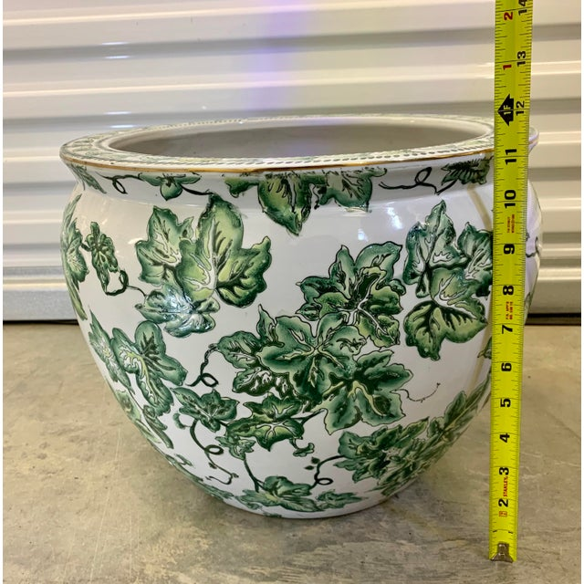 Leaf Motif Jardiniere For Sale - Image 9 of 13