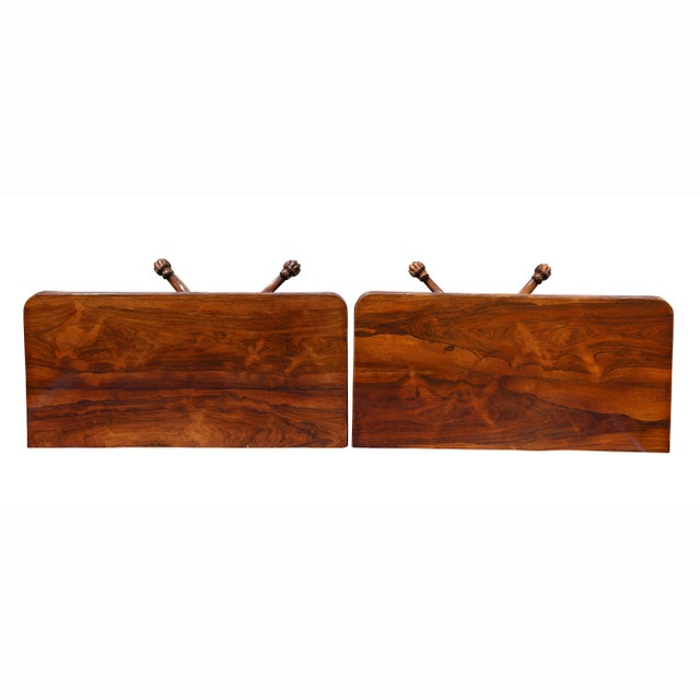 English Traditional Pair of Regency Rosewood Games Tables For Sale - Image 3 of 13