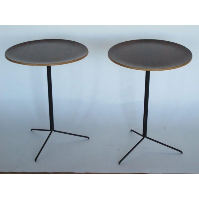 Brown Osvaldo Borsani for Tecno Occasional Tables For Sale - Image 8 of 8